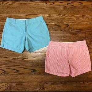 J.Crew Factory sz 4 City Fit shorts seersucker